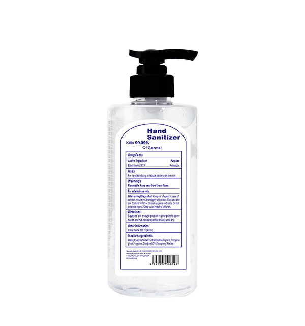 Outline the three functions of hand sanitizer
